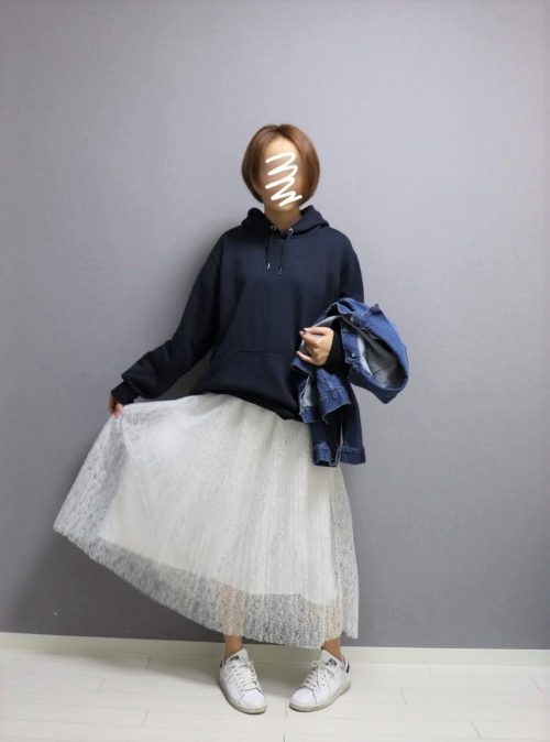 natural couture ヴィンテージレースプリーツスカート